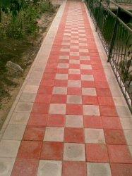 Укладка тротуарной плитки, мощение, ФЭМ.
