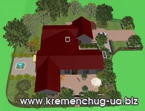 Ландшафтный дизайн, озеленение территории в Кременчуге